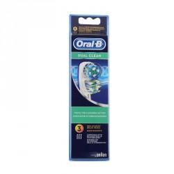 Oral b dual clean EB417 x3 têtes