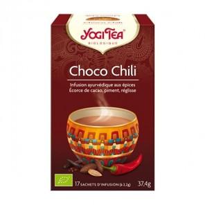 Yogi tea infusion chocolat du chili 17 sachets