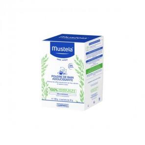 Mustela poudre de bain adoucissante 6 sachets de 30g