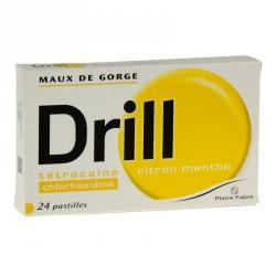 Drill Citron Menthe 24 Pastilles à Sucer